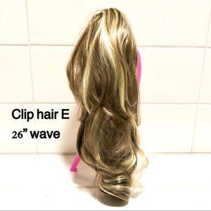Dark blonde and ash blonde gradient mix ponytail